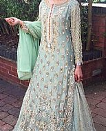 Light Turquoise Chiffon Suit- Pakistani Bridal Dress
