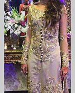 Grey/Green Chiffon Suit- Pakistani Formal Designer Dress