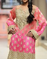 Pink Jamawar Chiffon Suit- Pakistani Formal Designer Dress