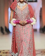 Tea Pink Crinkle Chiffon Suit- Pakistani Formal Designer Dress