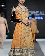 Orange Crinkle Chiffon Suit- Pakistani Formal Designer Dress
