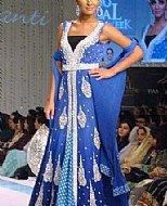 Blue Chiffon Suit- Pakistani Formal Designer Dress