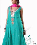 Sea Green Chiffon Suit- Pakistani Party Wear Dress