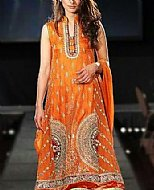 Orange Raw Silk Suit