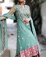 Sea Green Chiffon Suit- Pakistani Wedding Dress