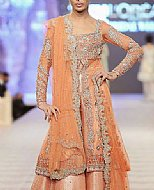 Peach Chiffon Suit- Pakistani Bridal Dress