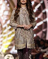 Fawn/Mauve Chiffon Suit- Pakistani Formal Designer Dress