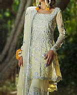 Cream Chiffon Suit- Pakistani Formal Designer Dress