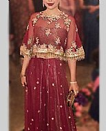 Maroon Chiffon Suit- Pakistani Wedding Dress