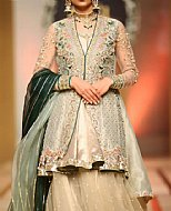 Sea Green Crinkle Chiffon Suit- Pakistani Bridal Dress