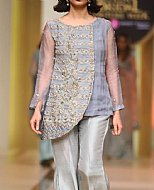 Grey/Gold Crinkle Chiffon Suit