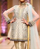 Golden Crinkle Chiffon Suit- Pakistani Party Wear Dress