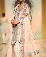 Peach Silk Suit- Pakistani Formal Designer Dress