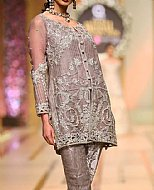 Rose Grey Crinkle Chiffon Suit