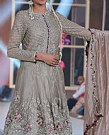 Rose Grey Silk Suit- Pakistani Formal Designer Dress
