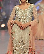 Light Golden Organza Suit- Pakistani Formal Designer Dress