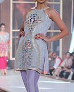 Sky Blue/Lilac Crinkle Chiffon Suit- Pakistani Formal Designer Dress