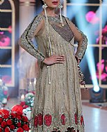Beige Crinkle Chiffon Suit- Indian Designer Dress