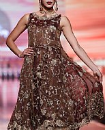 Chocolate Crinkle Chiffon Suit