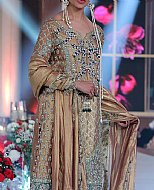Beige Silk Suit- Pakistani Formal Designer Dress