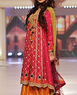 Crimson Crinkle Chiffon Suit- Pakistani Wedding Dress