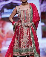 Magenta Silk Suit- Pakistani Party Wear Dress