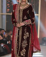 Maroon Velvet Suit- Pakistani Bridal Dress