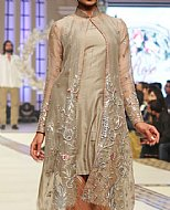 Fawn/Rust Chiffon Suit- Pakistani Formal Designer Dress