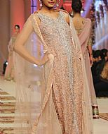 Peach Chiffon Suit- Pakistani Formal Designer Dress