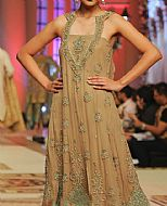 Beige Chiffon Suit- Pakistani Party Wear Dress