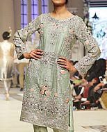 Pistachio Silk Suit- Pakistani Party Wear Dress