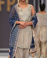 Sand Grey Chiffon Suit- Pakistani Formal Designer Dress