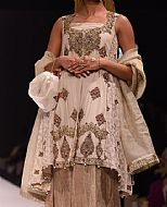 Off-white Silk Suit- Pakistani Party Wear Dress