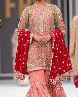 Pink Crinkle Chiffon Suit- Pakistani Wedding Dress