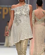 Off-white Chiffon Suit- Pakistani Formal Designer Dress