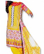 Yellow Cotton Lawn Suit- Indian casual clothes