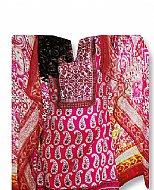 Hot Pink Cotton Lawn Suit