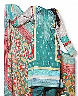 Turquoise Cotton Lawn Suit- Pakistani casual dress