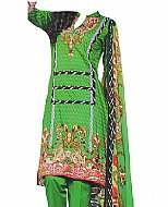Green Cotton Lawn Suit- Shalwar Kameez