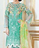 Sea Green Cotton Silk Suit