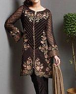 Black/Brown Chiffon Suit