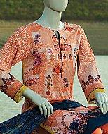 Peach Lawn Suit.
