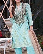 Turquoise Lawn Suit- Cotton Lawn suit