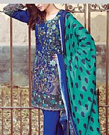 Navy Blue Khaddar Suit- winter dress
