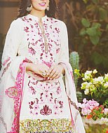 Off-white Lawn Suit- Pakistani Cotton dress