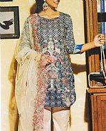 Blue/Ivory Lawn Suit- Pakistani Cotton dress