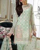 Mint Green Chiffon Suit