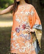 Orange Karandi Kurti- Pakistani winter dress
