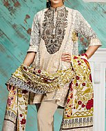 Ivory/Brown Khaddar Suit- winter wear
