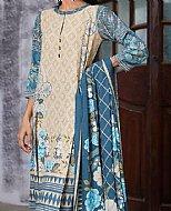 Teal Blue/Ivory Linen Suit